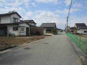 ⑤前面道路(島尾駅方面)